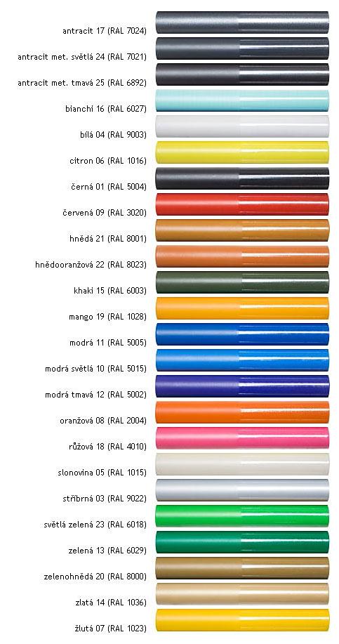 Barvy pro rám Gear MTB CX2 Rohloff
